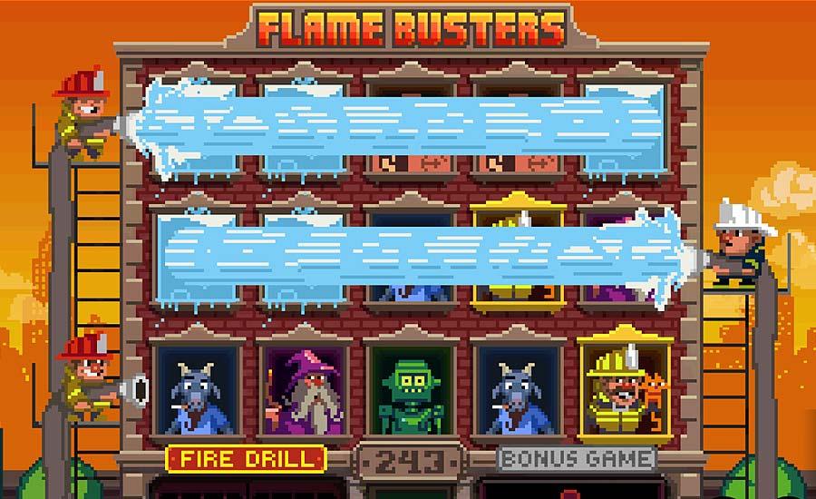 Flame Busters -kolikkopelin Fire Drill-tila