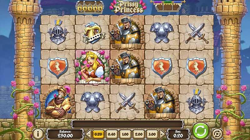 Prissy Princess -kolikkopelin pelialue