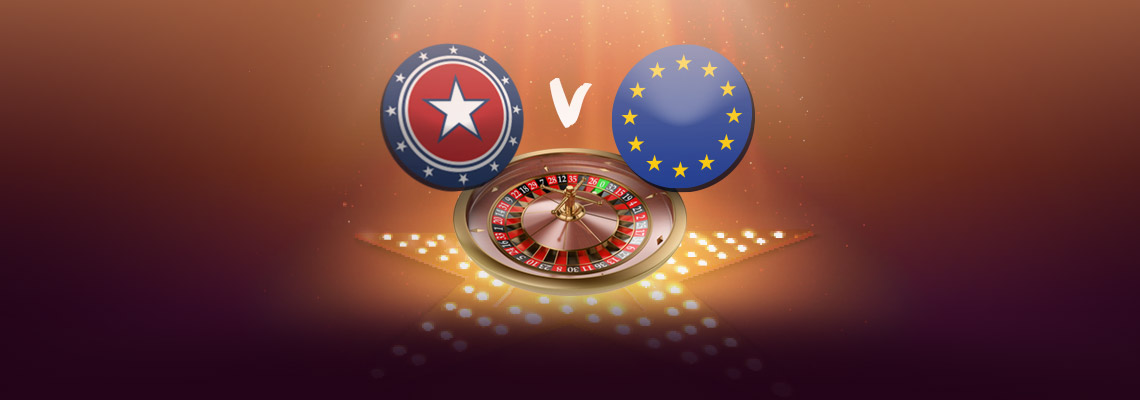 American roulette and european roulette difference