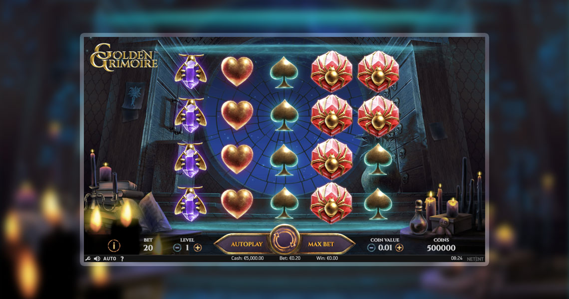 Golden Grimoire – NetEnt's New Slot Steeped in Magic