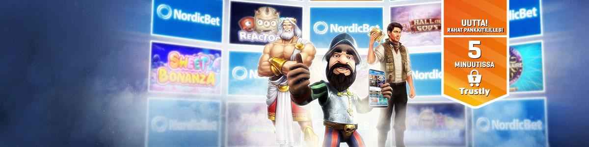 NordicBetin kasinobonuksen avulla saat jopa 600 € ylimääräistä pelirahaa